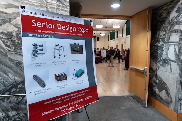 Sign advertising the Design Expo